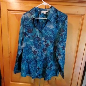 Long sleeve floral button up